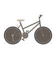 bicycle flat icon bike side view isolated side vector image