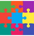 9 colorful puzzle jigsaw puzzle background vector image vector image