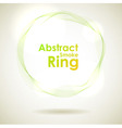 Abstract green smoke ring design element vector image vector image