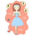 beautiful lovely little cartoon ballerina vector image vector image