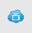 Blue tv icon vector image vector image