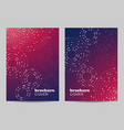brochure template layout design geometric pattern vector image vector image