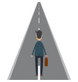 businessman on road in flat vector image vector image