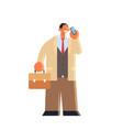 businessman talking on mobile phone business man vector image