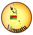 button Vanuatu vector image vector image