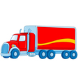 cartoon truck vector image