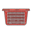 colored crayon silhouette of laundry basket vector image vector image