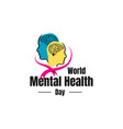 colorful design world mental health day banner vector image vector image