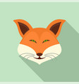 cute fox icon flat style vector image vector image