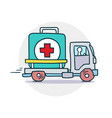 delivery of medical aid icon vector image vector image