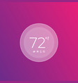 digital smart thermostat vector image vector image