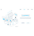 e-commerce - line design style isometric web vector image vector image