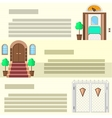Entrance flat icons vector image