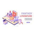 fantasy literature - modern colorful isometric web vector image vector image