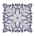 floral bandana print mandala square pattern vector image vector image