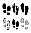 Footprints shoes vector image vector image