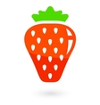 fruit icon with isolated strawberries vector image vector image