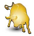 gold bull symbol icon vector image