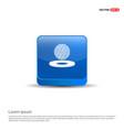 golf design icon - 3d blue button vector image