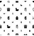 greeting icons pattern seamless white background vector image vector image