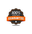 guarantee badge seal stamp vector image vector image
