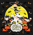 Halloween Ghost Night Patry vector image