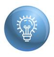 idea bulb icon outline style vector image