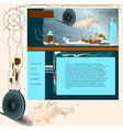 industrial web template vector image vector image