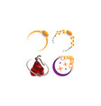 jewelery ring template set vector image