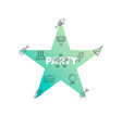 line icons in star shape party vector image vector image