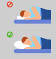 man info sleep position banner vertical flat vector image
