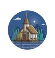 marine church seaside icon in line art vector image vector image
