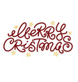 merry christmas greeting text and doodle stars vector image