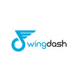 modern wing and dash logo template designs vector image vector image
