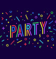party greeting card banner poster vector image vector image