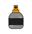 perfume fragrance bottle vector image vector image