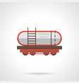 petroleum rail car flat color icon vector image vector image