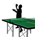 ping pong player silhouette seven vector image