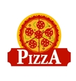 Pizza sign vector image