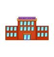 Railway station icon cartoon style vector image vector image