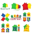 Real estate symbols for design vector image vector image