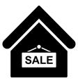 Sale Building Flat Icon vector image