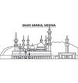 saudi arabia medina line skyline vector image