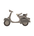 Scooter flat icon delivery bike side view vector image