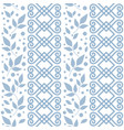 seamless pattern with blue ornament leaves vector image vector image