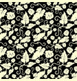seamless pattern with image hop plant vector image