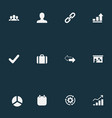 Set of simple plan icons