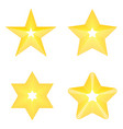 set star icon golden star on blank background vector image vector image