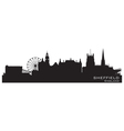 Sheffield England skyline Detailed silhouette vector image