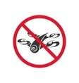 Sign forbidding flight drone on a white background vector image vector image